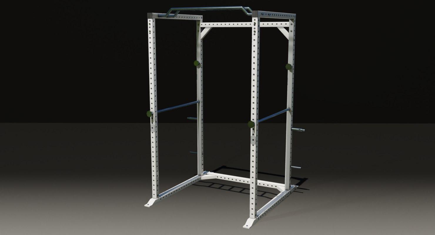 gym squatrack 3D model