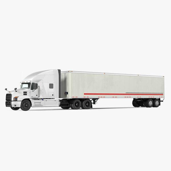 mack anthem truck trailer 3D model