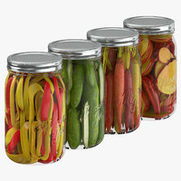 3D pickling jars model