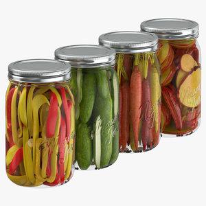 3D pickling jars model