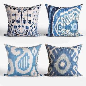 3D decorative pillows houzz set
