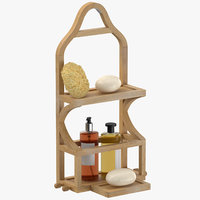 3D shower caddy 01 model