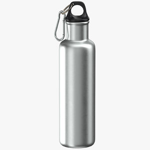 aluminium bottle size 02 3D model