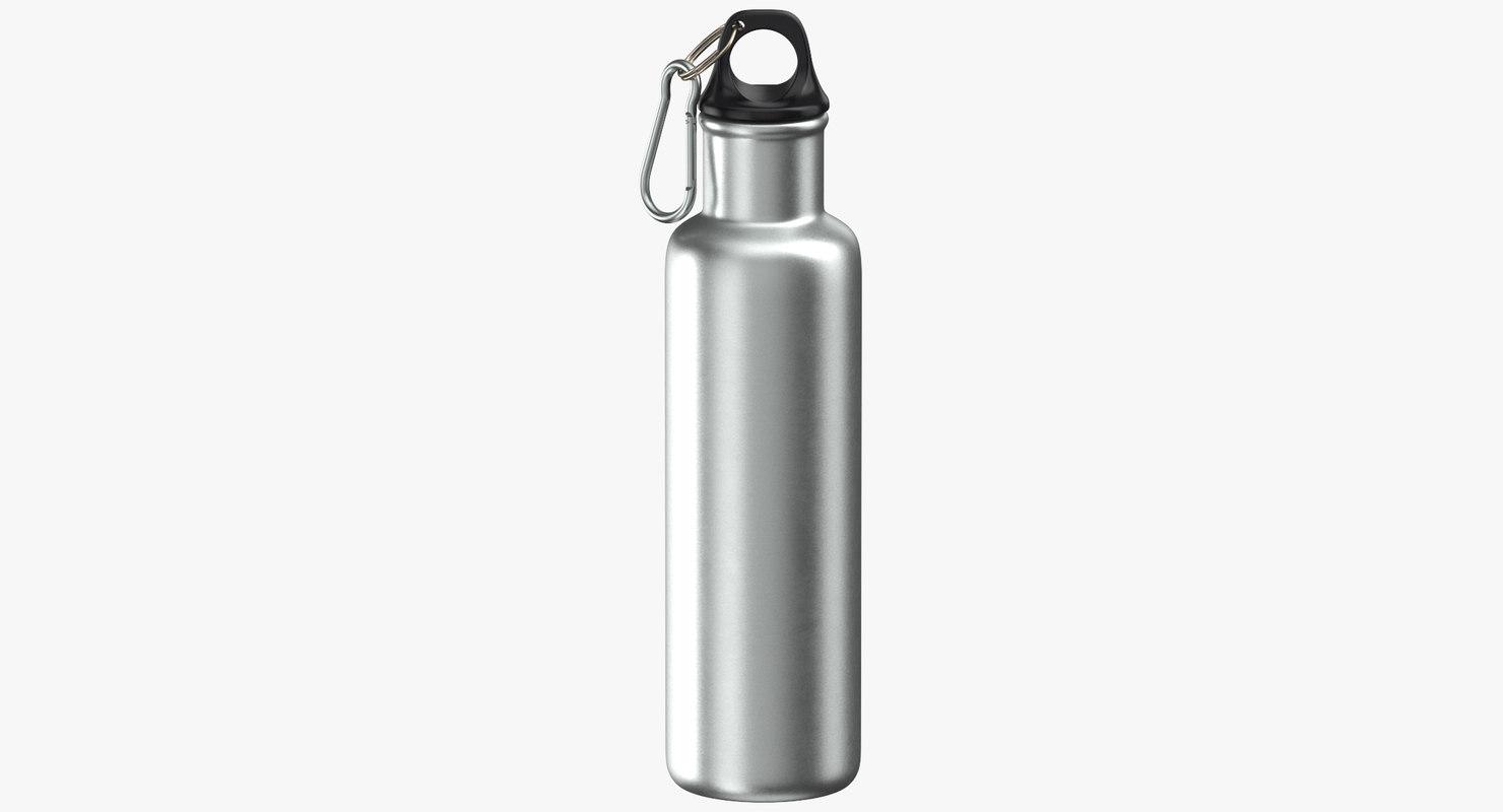 aluminium bottle size 02 3D model