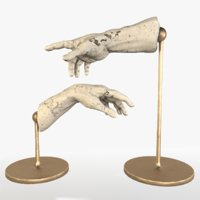 3D adam decorations hands