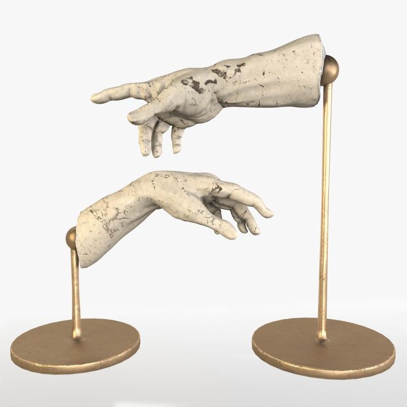 3D adam decorations hands