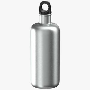 3D aluminium bottle size 03 model