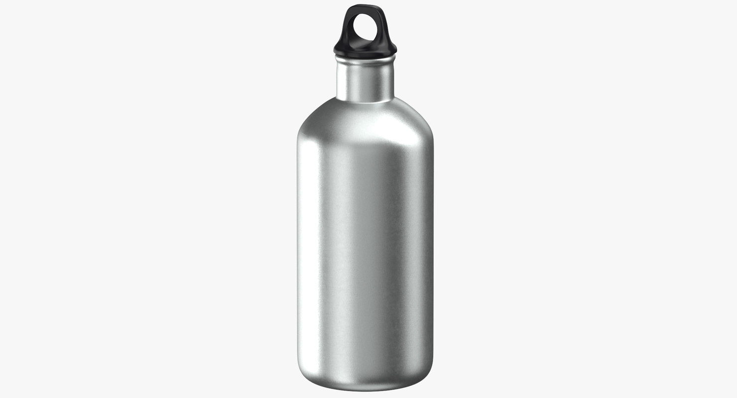 3D aluminium bottle size 04