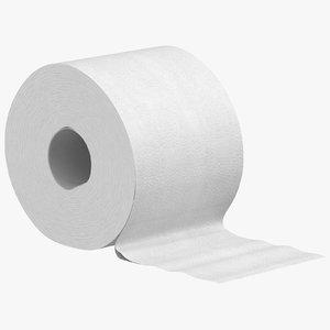 toilet paper 01 3D model