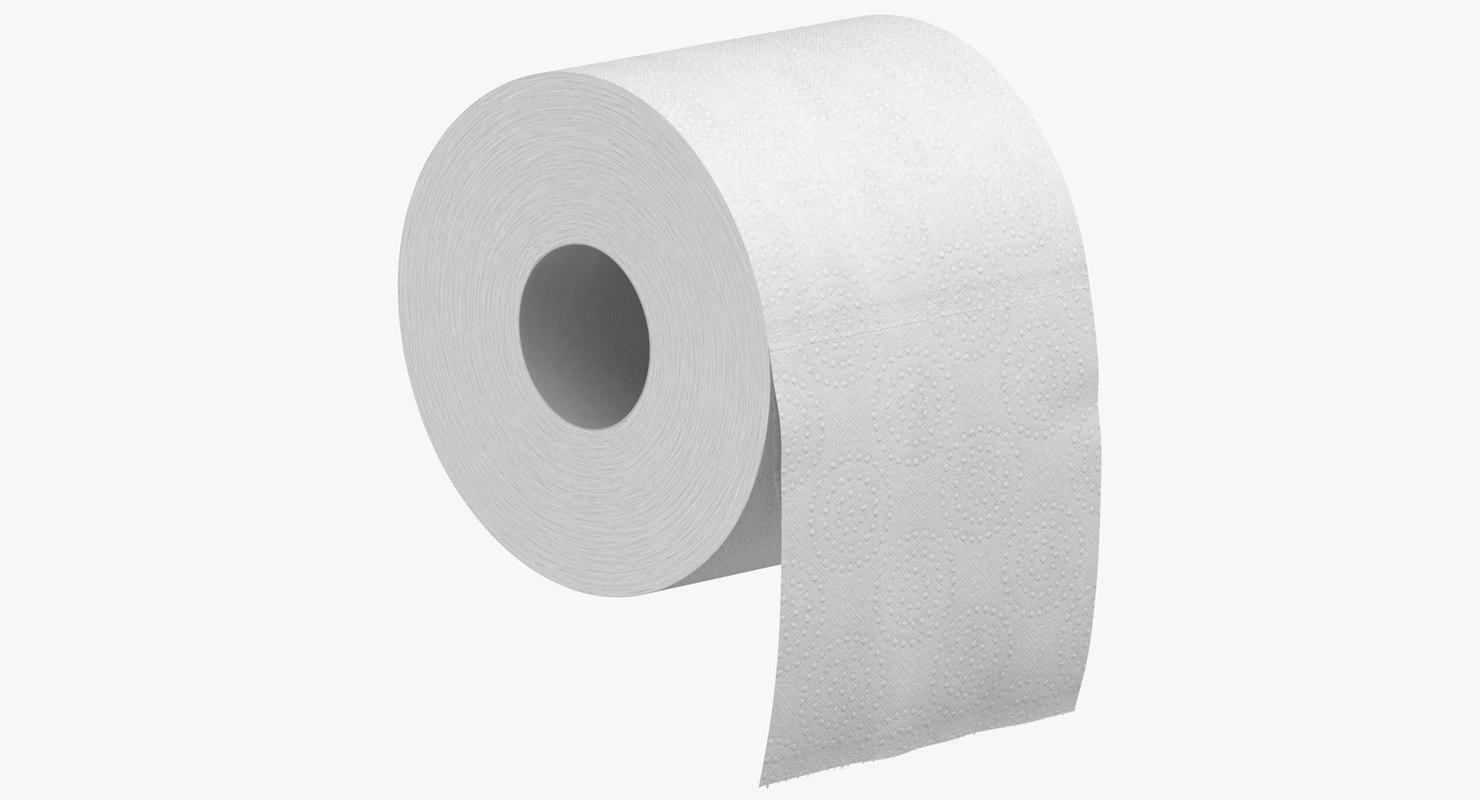 toilet paper 03 3D model