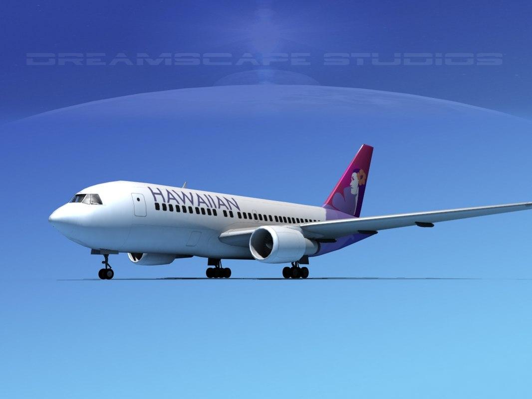 3D model airline boeing 767 767-200er