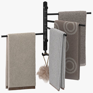 modern bathroom towel rack 3D model
