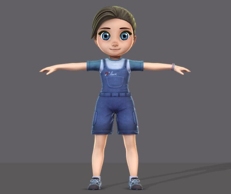 3D girl v001 model