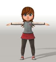 girl v002 3D model