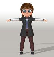 girl v003 3D model
