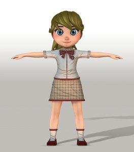 3D girl v004