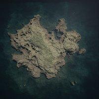 3D model simple island