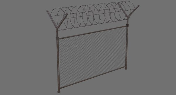 barbed wire fence 1b model