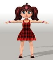 girl v005 3D model