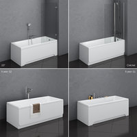 3D set baths ravak 13 model