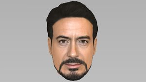 head robert downey jr 3D model