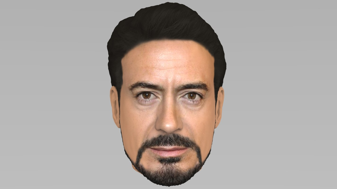head robert downey jr 3D model