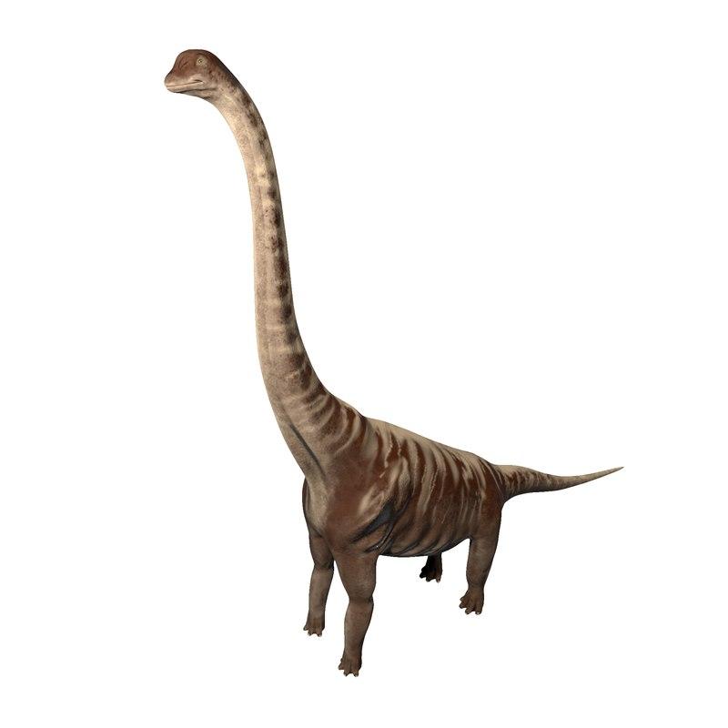 supersaurus dinosaur rigged 3D model