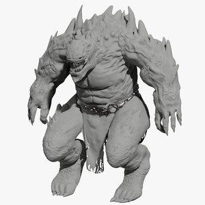 3D monster creature