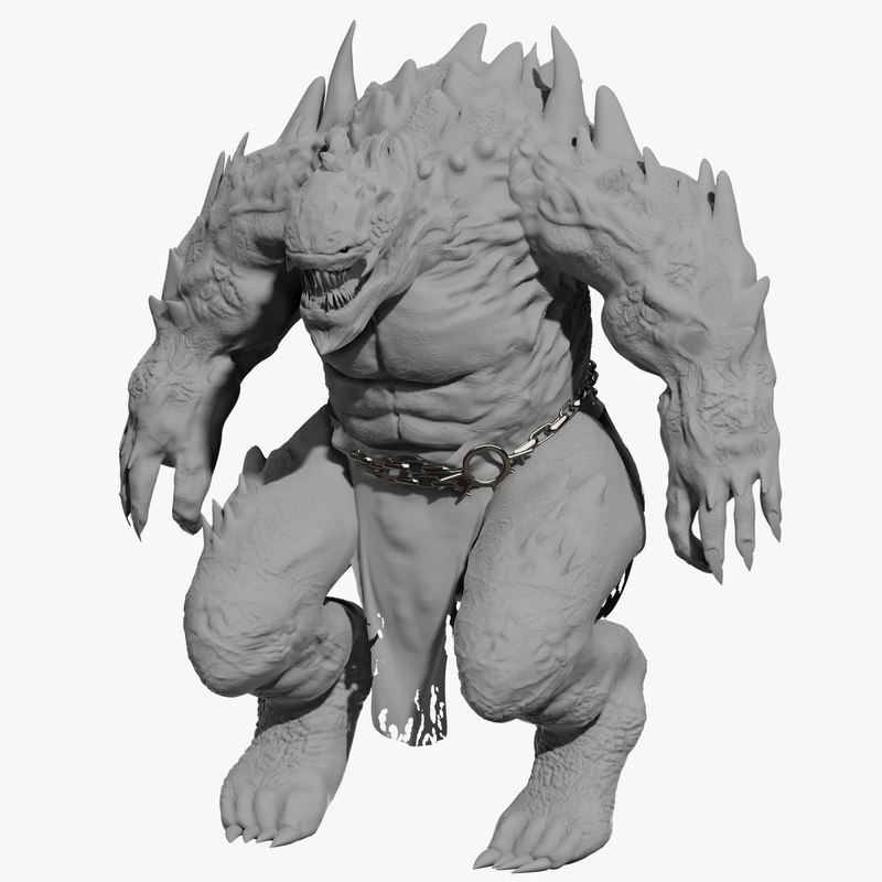 3D monster creature