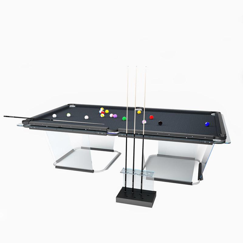 3D billiards t1 table model