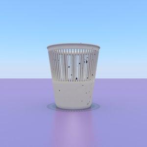 plastic basket papers 3D