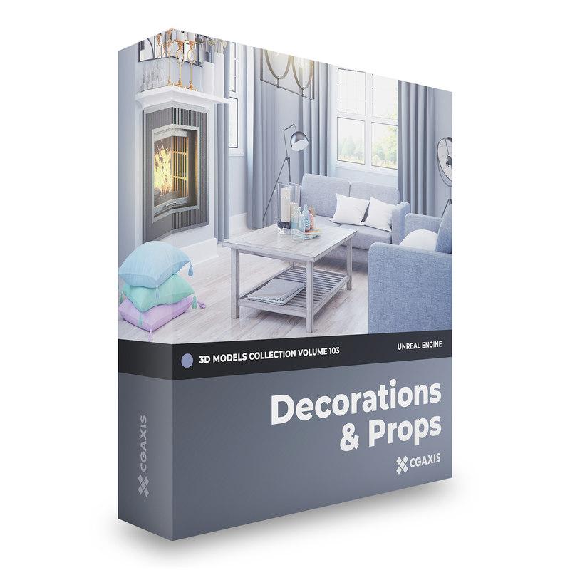 3D model decorations volume 103 unreal