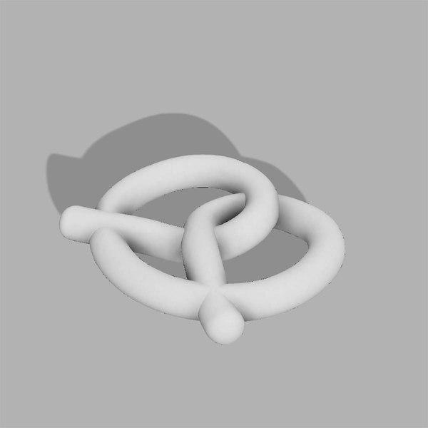 pretzel 3D model