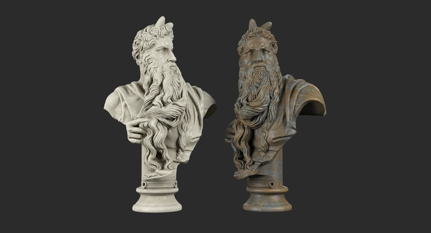 moses bust model