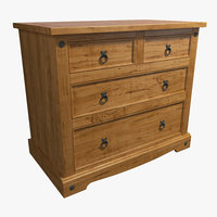 3D commode wood