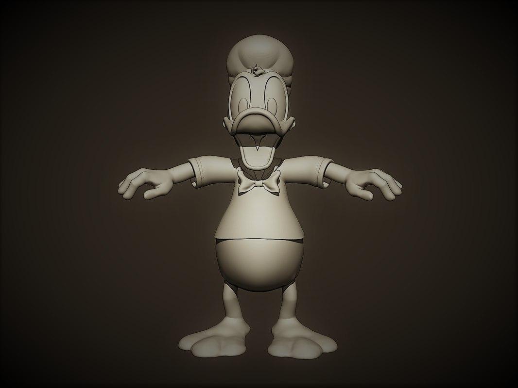 donald duck 3D
