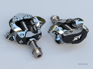 clipless shimano spd pedals 3D model