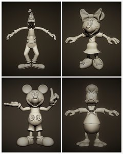 3D mickey minnie