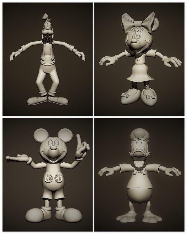 3D mickey minnie
