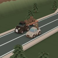 cartoon pack cars model