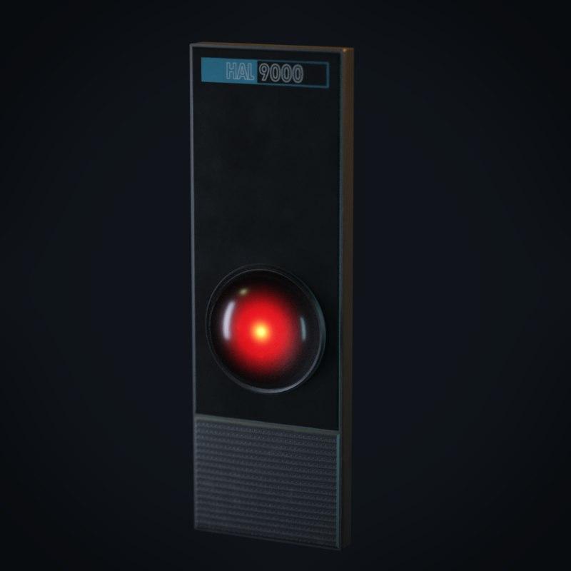 3D model hal 9000 computer
