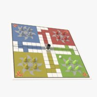 3D ludo board piece model