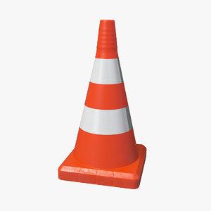 traffic cone reflective 3D model