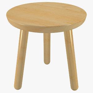 minimalist wooden bench wood model