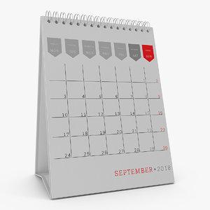 3D desk calendar