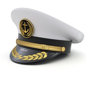 3D cap captain hat