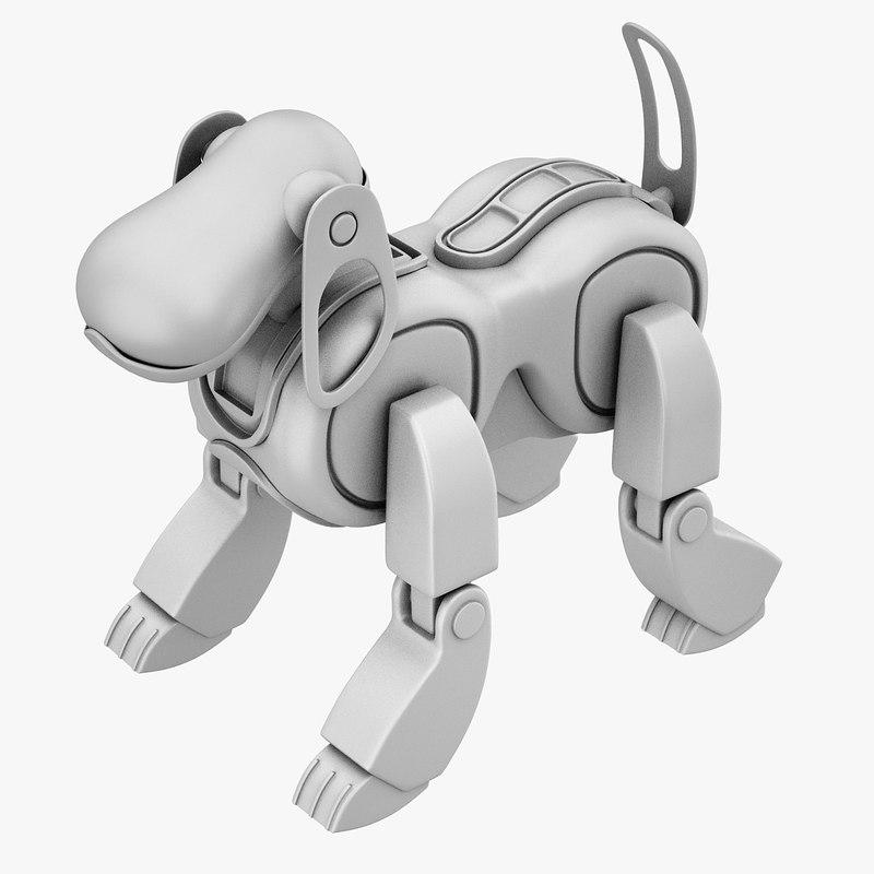 3D model aibo dog print