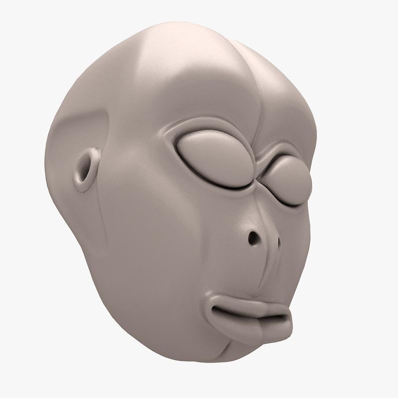 alien head 02 3D model