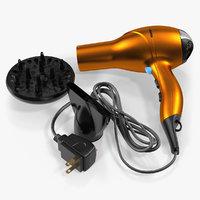 3D conair hair dryer nozzles