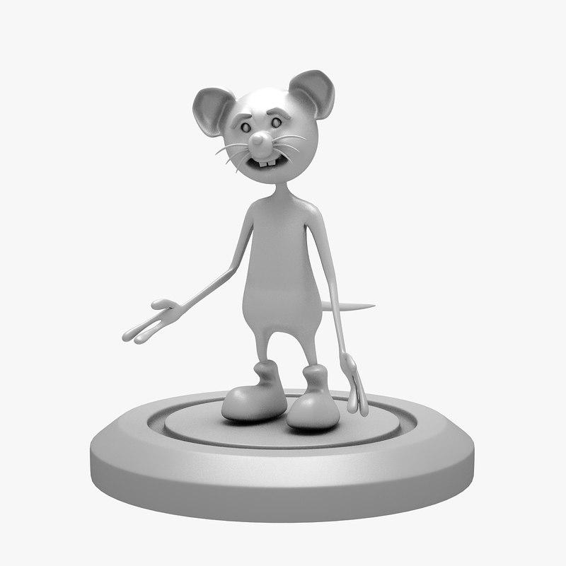 cartoon print mouse 3D